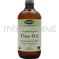 Certified Organic Flax Oil - Cold Pressed & Unrefined 17 fl oz FLORA