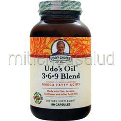 Udo's Choice Udo's Oil 3-6-9 Blend 90 caps FLORA