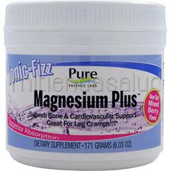 Ionic-Fizz Magnesium Plus Non-Tart Mixed Berry 171 gr PURE ESSENCE LABS