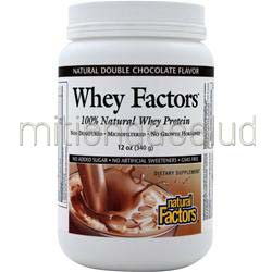100% Natural Whey Protein - Whey Factors Natural Double Chocolate 12 oz NATURAL FACTORS