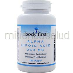 Alpha Lipoic Acid 250mg 120 caps BODY FIRST