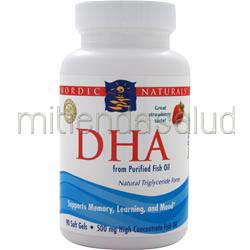 DHA - from Purified Fish Oil Strawberry 90 sgels NORDIC NATURALS