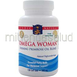 Omega Woman - Evening Primrose Oil Blend Lemon 120 sgels NORDIC NATURALS