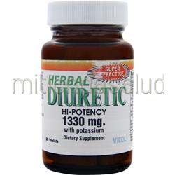 Herb Diuretic - High Potency 1330mg 30 tabs VITOL