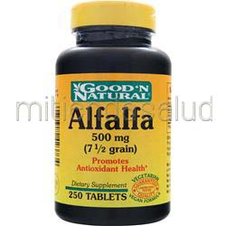 Alfalfa 500mg 250 tabs GOOD 'N NATURAL