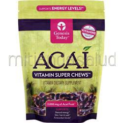 Acai - Vitamin Super Chews 2000mg 30 chews GENESIS TODAY