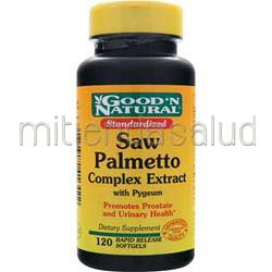 Saw Palmetto Complex Extract with Pygeum 120 sgels GOOD 'N NATURAL