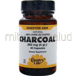 Charcoal 260mg 40 caps COUNTRY LIFE