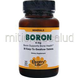 Boron 6mg 30 tabs COUNTRY LIFE