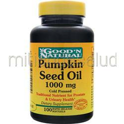 Pumpkin Seed Oil 1000mg 100 sgels GOOD 'N NATURAL