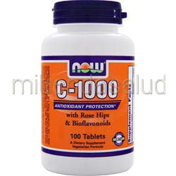 C-1000 with Rose Hips and Bioflavonoids 100 tabs NOW