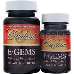 E-Gems 400IU 90con44 Shrink Wrap 134 sgels CARLSON