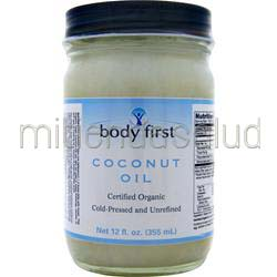Coconut Oil - Certified Organic 12 fl oz BODY FIRST