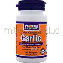 Garlic - Odor Controlled 100 sgels NOW