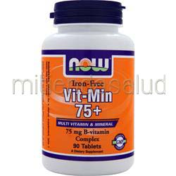 Vit-Min 75con Iron-Free 90 tabs NOW