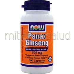 Panax Ginseng 520mg 100 caps NOW