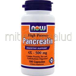 Pancreatin 4X 500mg 100 caps NOW