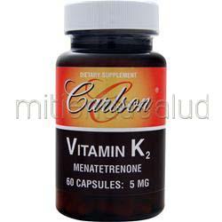 Vitamin K2 Menetetrenone 5mg 60 caps CARLSON