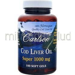 Cod Liver Oil Super 1000mg 100 sgels CARLSON