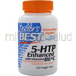 5-HTP Enhanced with Vitamins B6 &C 120 caps DOCTOR'S BEST