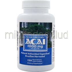 Acai 500mg 120 sgels GOOD 'N NATURAL