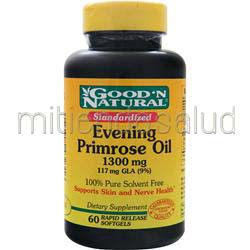 Evening Primrose Oil 1300mg 60 sgels GOOD 'N NATURAL