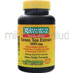 Green Tea Extract 500mg 120 caps GOOD 'N NATURAL