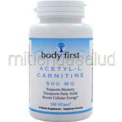Acetyl-L Carnitine 500mg 100 caps BODY FIRST