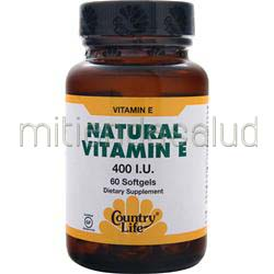 Natural Vitamin E 400IU 60 sgels COUNTRY LIFE
