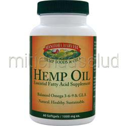 Hemp Oil 60 sgels MANITOBA HARVEST