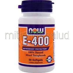 E-400 Mixed Tocopherols 50 sgels NOW