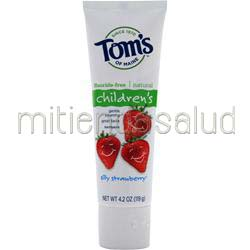 Children's Fluoride-Free Natural Toothpaste Silly Strawberry 4 2 oz TOM'S OF MAINE