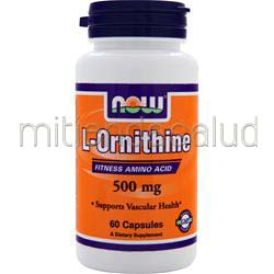 L-Ornithine 500mg 60 caps NOW