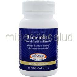 Remember! Mental Sharpness Formula 60 caps ENZYMATIC THERAPY
