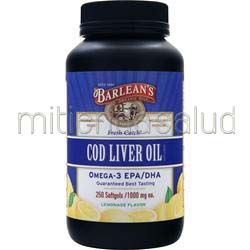 Cod Liver Oil 1000mg Lemonade 250 sgels BARLEAN'S