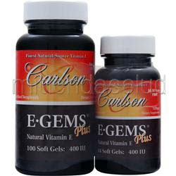 E-Gems Plus 400IU 100con44 Shrink Wrap 144 sgels CARLSON