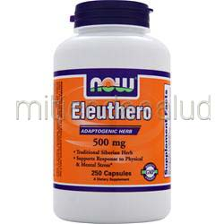 Eleuthero 500mg 250 caps NOW