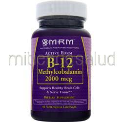 B-12 Methylcobalamin 2000mcg 60 lzngs MRM