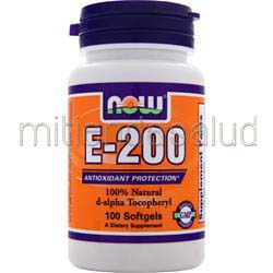E-200 d-alpha Tocopheryl NOW