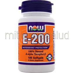 E-200 d-alpha Tocopheryl NOW