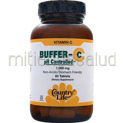 Buffer-C pH Controlled 1000mg 60 tabs COUNTRY LIFE