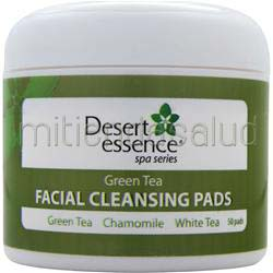 Facial Cleansing Pads Green/White Tea,Chamomile 50 pads DESERT ESSENCE