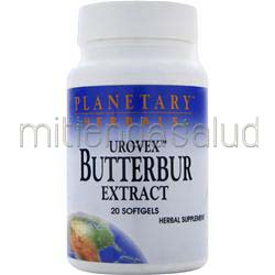 Urovex Butterbur Extract 20 sgels PLANETARY FORMULAS