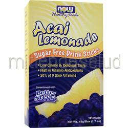 Sugar Free Drink Sticks Acai Lemonade 12 pckts NOW
