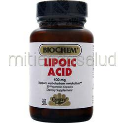 Lipoic Acid 100mg 50 caps BIOCHEM
