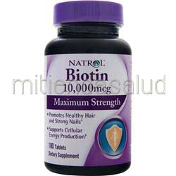 Biotin 10,000mcg Maximum Strength 100 tabs NATROL