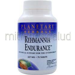 Rehmannia Endurance 637mg 75 tabs PLANETARY FORMULAS