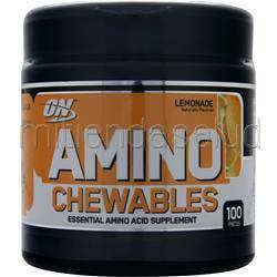 Amino Chewables Lemonade 100 chews OPTIMUM NUTRITION