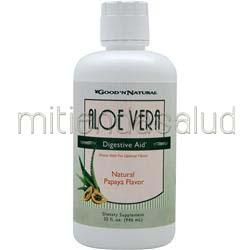 Aloe Vera - Digestive Aid Liquid Papaya 32 fl oz GOOD 'N NATURAL