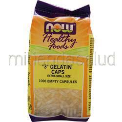 3 Gelatin Caps - Extra Small Size 1000 caps NOW